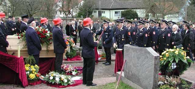 Feuerwehr Beerdigung